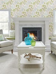 2535-20627 Green Eden Modern Leaf Trail Wallpaper