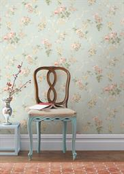springtime-cottage wallpaper room scene 2