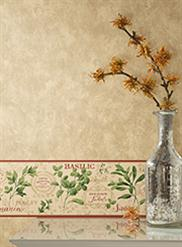 Canvas Texture w/Aromatique Herb Border