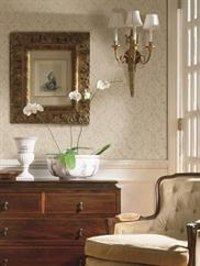 damask-and-stripes wallpaper room scene 1