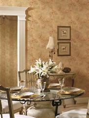 damask-and-stripes wallpaper room scene 4