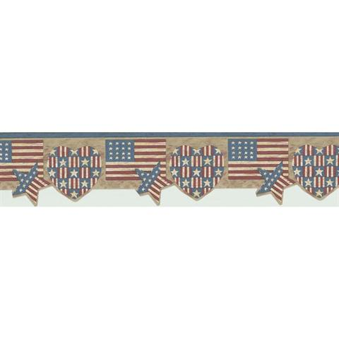 american flag shapes border pattern 451 1794 pattern name american