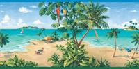 Beach Scenery Wallpaper Border
