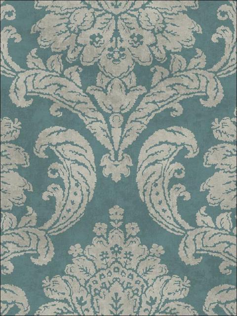fy41402 bellagio blue damask wallpaper