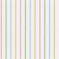 Blue, Green, Pink & Yellow Pastel Stripes