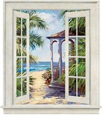 Coastal Window Gazebo on Beach