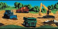 Construction Vehicles Wallpaper Border