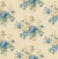 Cottage Rose Bouquet Wallpaper