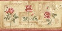 Distressed Fruit Wallpaper Border