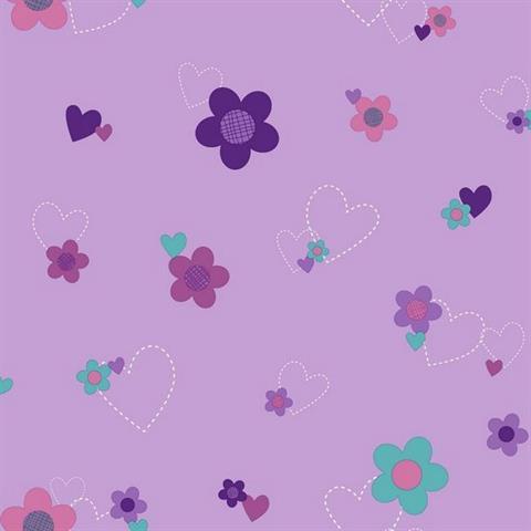 DS7680 Doc McStuffins Floral TotalWallcoveringCom