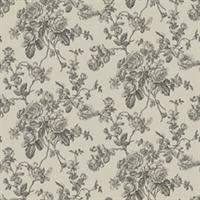 Elmwood Rose Toile Wallpaper