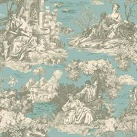 Enchanted Garden Toile Wallpaper