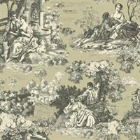 Enchanted Gdn. Toile Wallpaper