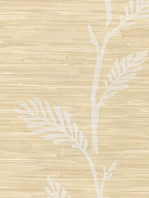 Floral on Printed Grasscloth Sidewall