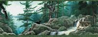 Forest Wildlife Wallpaper Border