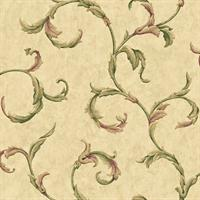 Fresco Scroll Sidewall Wallpaper