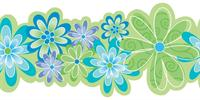 Kids Floral Wallpaper Border