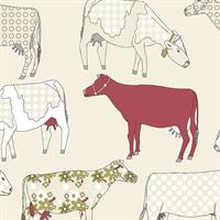 Cows Floral Toile
