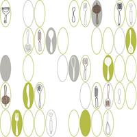 Kitchen Utensils and Ovals