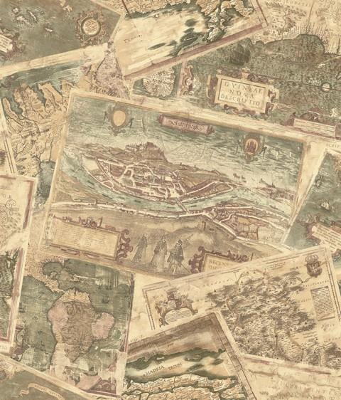 Group of antique world map wallpaper border wallpaper border old world vintage looking map explorer maps gumiabroncs Image collections