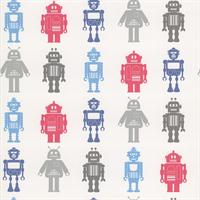 Red, Blue & Silver Robots