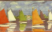 Sailboats - Wallpaper Border