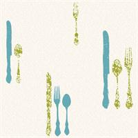 Silverware with Damask