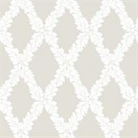 Sueded Large Trellis Wallpaper