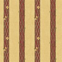 Tuscan Lattice Stripe Wallpaper
