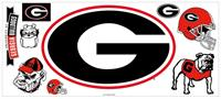 University of Georgia Peel & Stick Giant Wall Decal w/Hooks