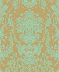 Urn Damask Wallpaper