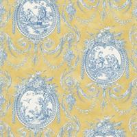 Vignette Toile Wallpaper