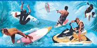 Water Sports Wallpaper Border