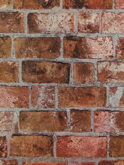 He1046 Rust Colored Textured Brick Totalwallcovering Com